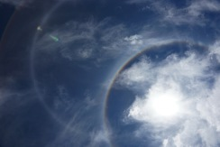 Doppelter Halo am Titicacasee