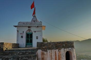 Pushkar Tempel auf dem Hügel